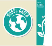World green — Stock Vector