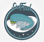 Meeresfrüchte — Stockvektor