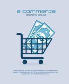 Ecommerce design — Stock vektor