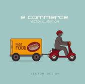 дизайн электронной коммерции — Cтоковый вектор
