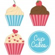 Cup cake birthday — Stock Vector #39318239