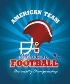 American football — Vettoriale Stock