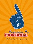 American football — Stock Vector