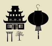 Chinese temple — Stock Vector