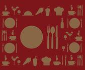 Progettazione di menu — Vettoriale Stock