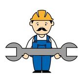 Industrial workers — Stock Vector