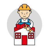Industriële arbeiders — Stockvector