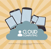 Cloud computing — Stock Vector