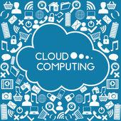Przetwarzanie w chmurze — Wektor stockowy