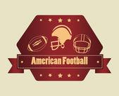 美式足球 — 图库矢量图片