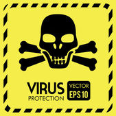 Projeto de vírus — Vetor de Stock