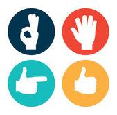 Hands gesture — Stock Vector