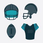 Amerikansk fotboll — Stockvektor