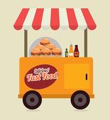 Fast food — Stok Vektör