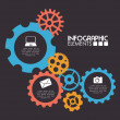 Gears design — Stockvector #40445575