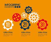 Gears design — ストックベクタ