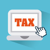 Tax design — Vector de stock