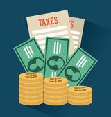 Tax design — Stock Vector