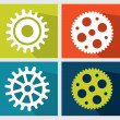 Stockvektor : Gears design