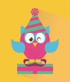Owl design — Stock Vector