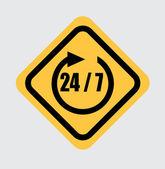 24-7 signal — Stock Vector