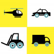 Stock Vector: Transport vehicles