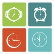 Stock Vector: Time clocks