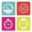 Stock Vector: Modern watches