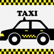 Stock Vector: Taxi cab