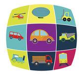 Transport vehicles — Stock Vector
