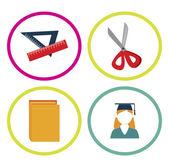 Education supplies — Stock Vector