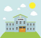 School  build graphic — Stock Vector
