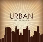 Urban city design — Vector de stock