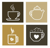 Hot drinks — Stock Vector