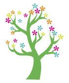 Drzewo kwiat — Wektor stockowy