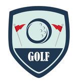 Golf logo design — Stock Vector
