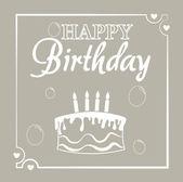 Happy birthday card design     — Stock Vector