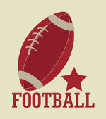 Us-amerikanischer american-football — Stockvektor