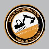 Under construction bottom — Stock Vector