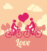 Bike love design    — Stockvektor