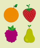 Diseño de frutas — Vector de stock