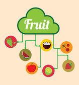 Diseño gráfico de frutas — Vector de stock