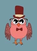 Vintage owl — Stock Vector