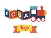 Brinquedos de bebê — Vetor de Stock
