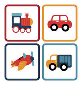 Baby car toys — Stock Vector