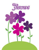 Flores de color púrpura — Vector de stock
