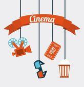 Iconos del cine — Vector de stock
