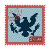 Eagle stamp — Stock Vector