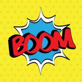Pop art boom — Stock Vector