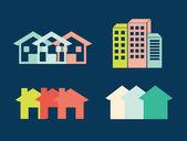 Urban city design — Stock Vector